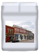 Downtown Manistee Michigan Duvet Cover