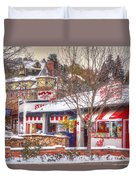 Patsy's Candies In Snow Duvet Cover
