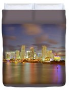 Downtown Miami And Aaa Duvet Cover