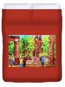 Downtown Montreal Mcgill University Streetscenes Duvet Cover