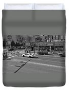 Downtown Nashville Legends Corner Duvet Cover by Dan Sproul