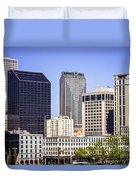 Downtown New Orleans Buildings Duvet Cover by Paul Velgos