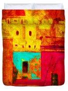 Downtown Oaxaca Duvet Cover
