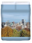 Downtown Pittsburgh From Mount Washington 4 Duvet Cover