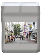 Downtown Scene In Provincetown On Cape Cod In Massachusetts Duvet Cover