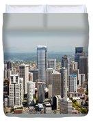 Downtown Seattle Duvet Cover