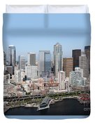 Downtown Seattle Washington City Skyline Duvet Cover