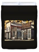 Downtown Silver Plume Duvet Cover