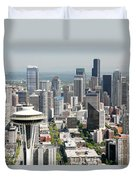 Downtown Skyline Of Seattle Duvet Cover