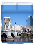 Downtown Skyline Of Springfield Massachusetts Duvet Cover