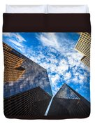 Downtown Skyscrapers Duvet Cover