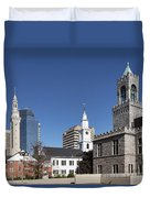 Downtown Springfield Duvet Cover