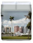 Downtown West Palm Beach Duvet Cover