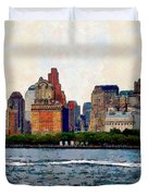 Downtown With Edward Duvet Cover