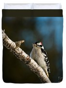 Downy Woodpecker Pictures 25 Duvet Cover