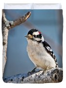 Downy Woodpecker Pictures 39 Duvet Cover