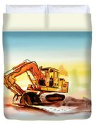 Dozer October Duvet Cover