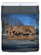 Dr. Isaac B. Cowen At The Little Compton Commons In Rhode Island Duvet Cover