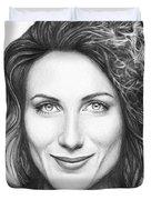 Dr. Lisa Cuddy - House Md Duvet Cover by Olga Shvartsur