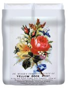 Dr Morse's Yellow Dock Root Syrup Duvet Cover