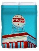Dr Pepper Sign Roanoke Virginia Duvet Cover