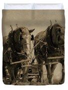 Draft Horses Duvet Cover