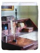 Draftsman - Cartographer's Desk Duvet Cover by Susan Savad