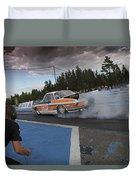 Drag Racing 3 Duvet Cover