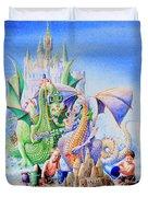Dragon Castle Duvet Cover