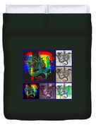 Dragon Collage Duvet Cover