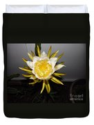Dragon Fruit Blooming At Night I Duvet Cover