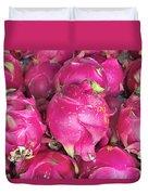Dragon Fruit Closeup Background Duvet Cover