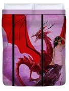 Dragon Power-featured In Comfortable Art Group Duvet Cover
