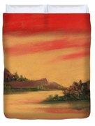 Dragon Sunset Duvet Cover