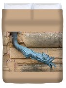 Dragon Waterspout  Chateau De Cormatin Duvet Cover