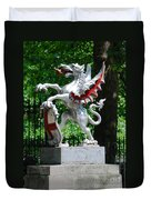 Dragon With St George Shield Duvet Cover