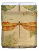Dragonflies Among The Ferns-12415 Duvet Cover