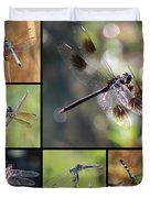 Dragonflies On Twigs Collage Duvet Cover