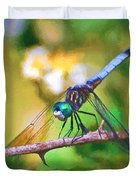 Dragonfly Art - A Thorny Situation Duvet Cover