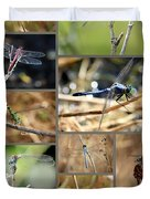 Dragonfly Collage Duvet Cover