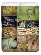 Dragonfly Collage Duvet Cover by Carol Groenen