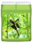 Dragonfly Female Widow Skimmer Duvet Cover