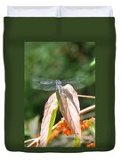 Dragonfly In Early Autumn Duvet Cover