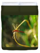 Dragonfly On A Summer Day Duvet Cover