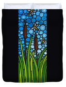 Dragonfly Pond By Sharon Cummings Duvet Cover