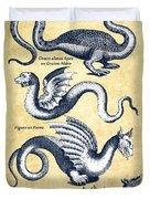 Dragons - Historiae Naturalis  - 1657 - Vintage Duvet Cover