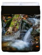 Dragons Teeth Icicles Waterfall Great Smoky Mountains  Duvet Cover