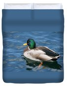 Green Headed Mallard Duck Duvet Cover