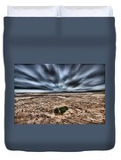 Drama At Freshwater West Duvet Cover
