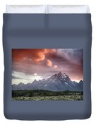 Drama In The Sky Duvet Cover